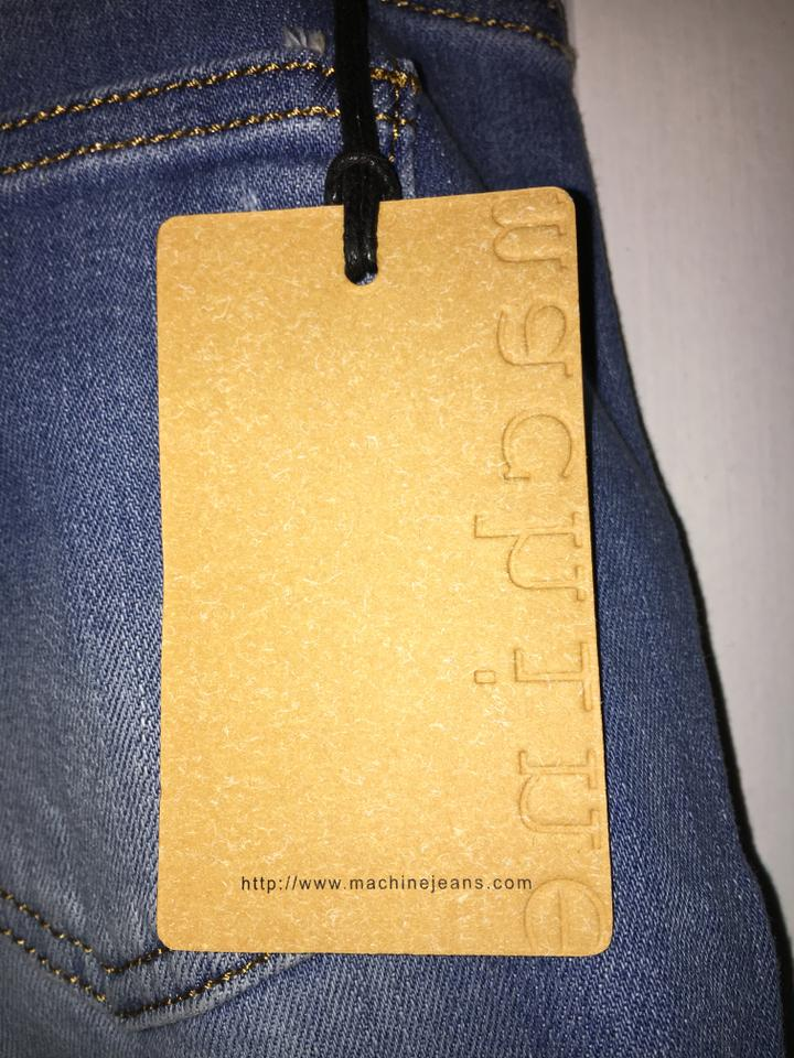 93dadc7d92b Blue - Medium Wash Distressed Silver Sequin Skinny Jeans Size 32 (8, M) -  Tradesy