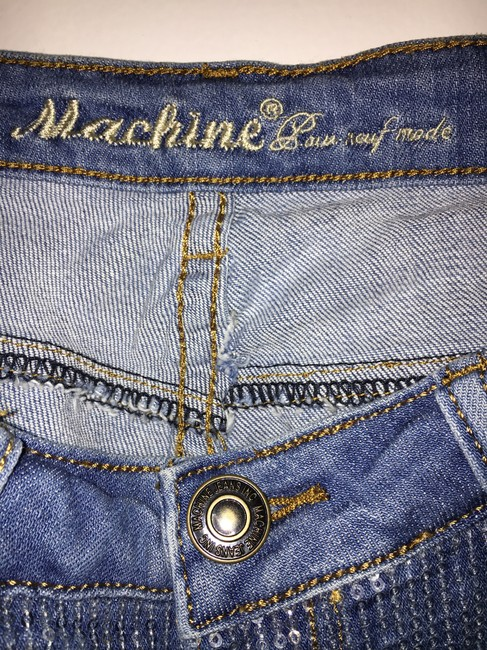 Machine Nouvelle Mode Size 9 Distressed Sequin Skinny Jeans-Distressed Image 8