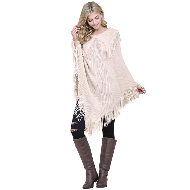Preload https://img-static.tradesy.com/item/24390740/khaki-knitted-fringe-ponchocape-size-os-one-size-0-0-650-650.jpg