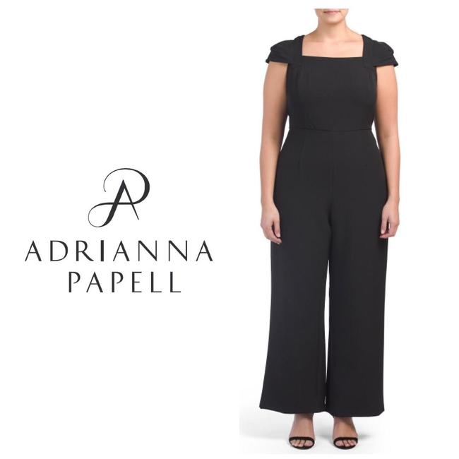 Preload https://img-static.tradesy.com/item/24390804/adrianna-papell-black-plus-square-neck-stretch-wide-leg-22w-romperjumpsuit-0-0-650-650.jpg