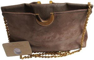 Other Suede Lizard Gold Tone Cross Body Tan Shoulder Bag