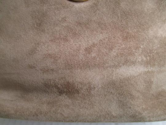 Other Suede Lizard Gold Tone Cross Body Tan Shoulder Bag Image 10