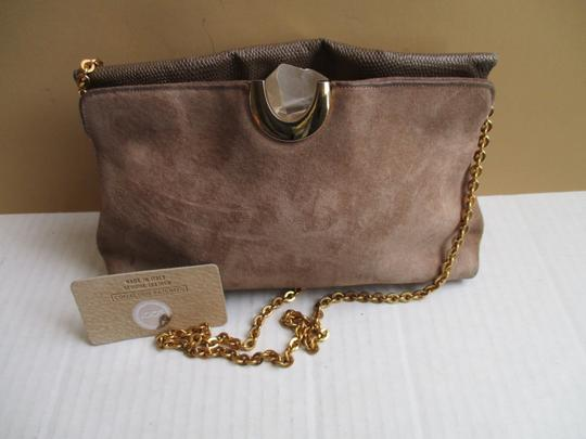 Other Suede Lizard Gold Tone Cross Body Tan Shoulder Bag Image 2
