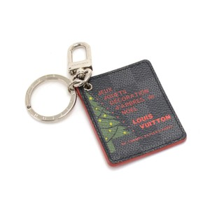 Louis Vuitton Louis Vuitton Illustre Christmas Tree Damier Graphite Canvas Keyring