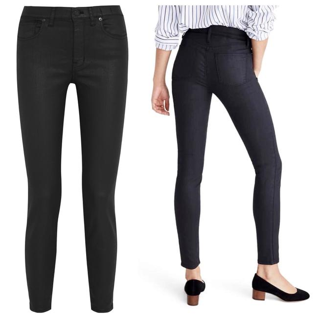 """Item - Black Coated 9"""" High-rise Edition Skinny Jeans Size 10 (M, 31)"""