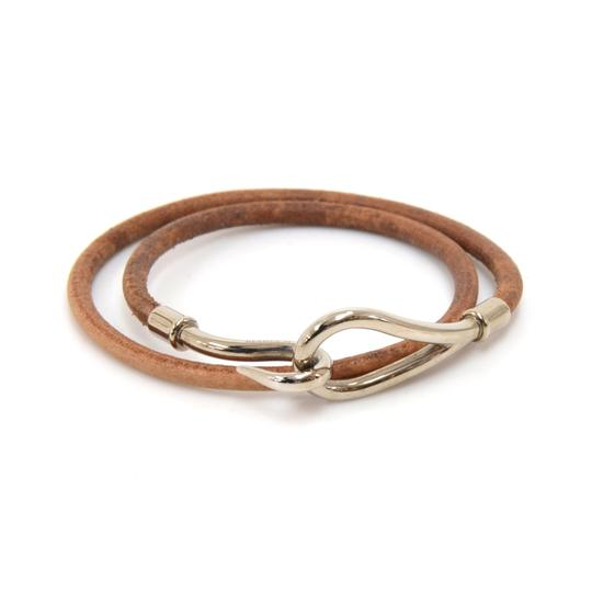 Preload https://img-static.tradesy.com/item/24391057/hermes-brown-leather-x-silver-tone-hook-double-wrap-jumbo-bracelet-0-0-540-540.jpg
