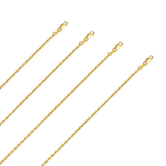 Top Gold & Diamond Jewelry 14k Yellow Gold 2.2mm Double Link Hollow Rope Chain - 22