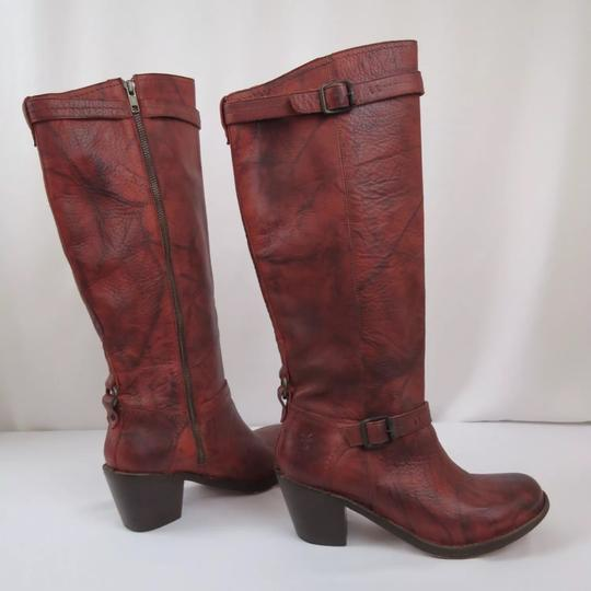 Frye Antique washed Rusty Red Boots Image 3