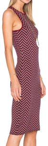Burgandy/ Tan/ Navy Maxi Dress by House of Harlow 1960