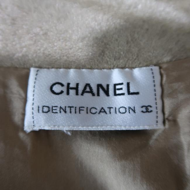 Chanel A Line Metallic Leather Cc Logo Skirt Gold Image 4
