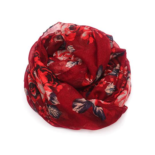 Riah Fashion Floral Infinity Scarf Image 1