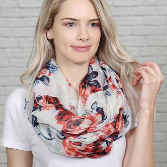 Riah Fashion Floral Infinity Scarf Image 2