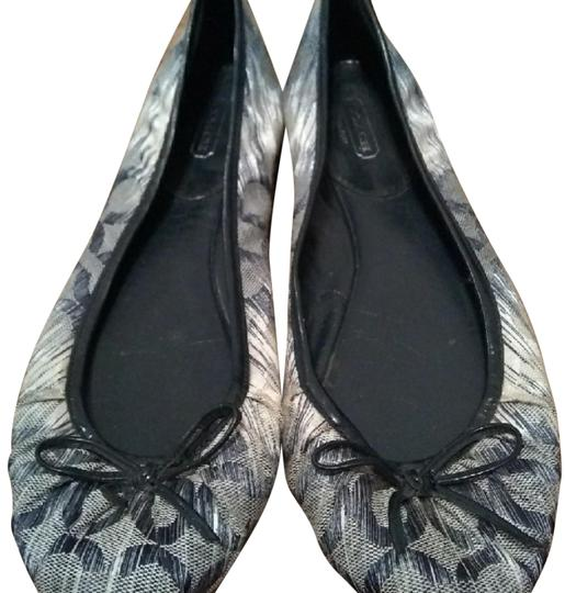 Coach Navy/silver Flats Image 0