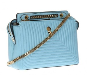 Fendi Turquoise Dotcom Satchel in Blue