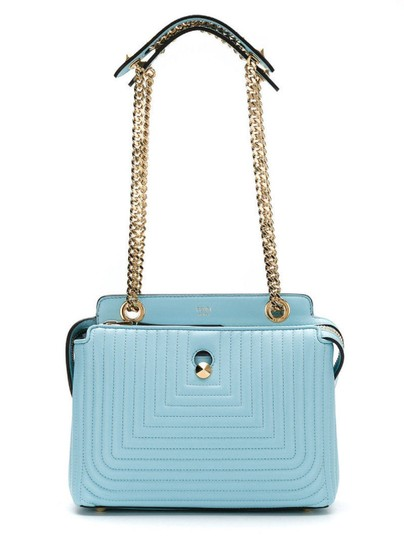 Fendi Turquoise Dotcom Satchel in Blue Image 2