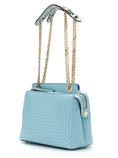 Fendi Turquoise Dotcom Satchel in Blue Image 6