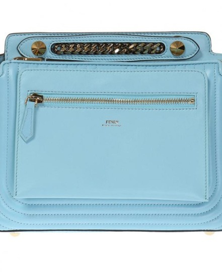 Fendi Turquoise Dotcom Satchel in Blue Image 7