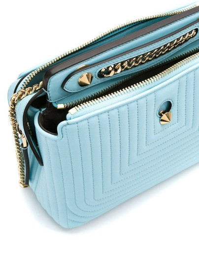 Fendi Turquoise Dotcom Satchel in Blue Image 8