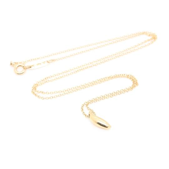 Tiffany & Co. Frank Gehry 18k Yellow Gold Fish Pendant & Chain Necklace Image 1