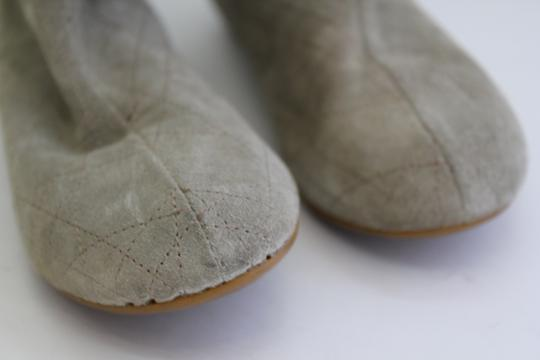 Dior Rutched Flat Suede GREY/ TAUPE Boots Image 3