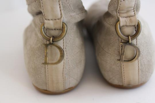 Dior Rutched Flat Suede GREY/ TAUPE Boots Image 8