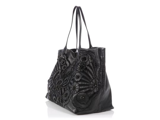 Valentino Vl.p1023.13 Floral Crystal Embellished Reduced Price Tote in Black Image 2