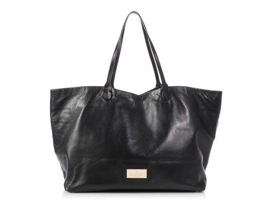 Valentino Vl.p1023.13 Floral Crystal Embellished Reduced Price Tote in Black Image 3