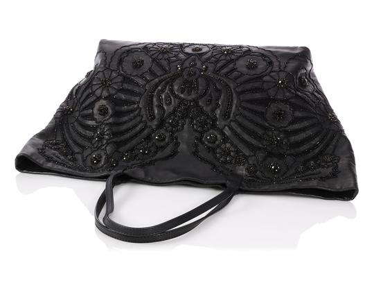 Valentino Vl.p1023.13 Floral Crystal Embellished Reduced Price Tote in Black Image 6