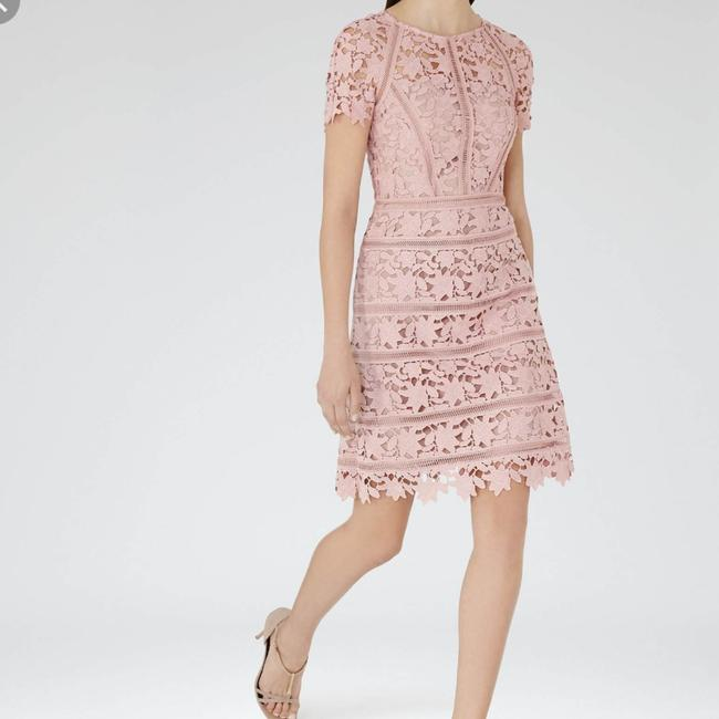 Preload https://img-static.tradesy.com/item/24391550/reiss-pink-orchid-lace-mid-length-cocktail-dress-size-0-xs-0-2-650-650.jpg