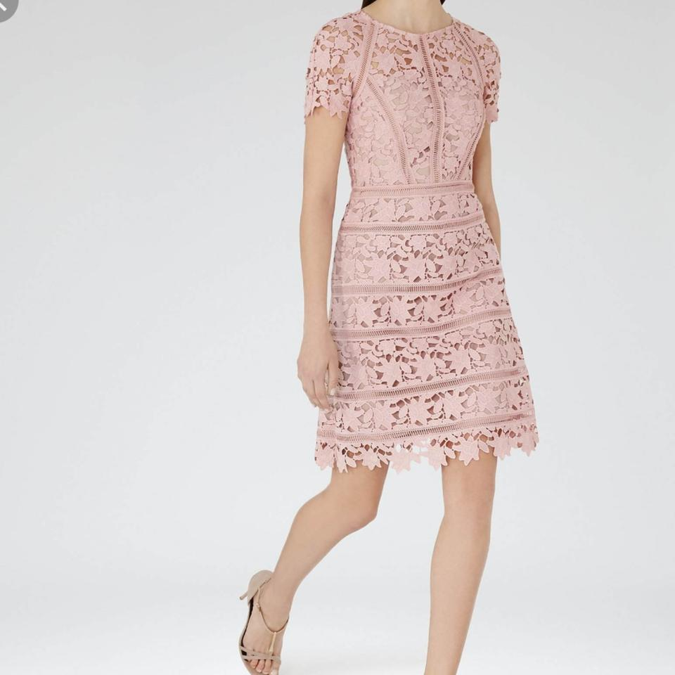 2e419343bc2 Reiss Pink Orchid Lace Mid-length Cocktail Dress Size 0 (XS) - Tradesy