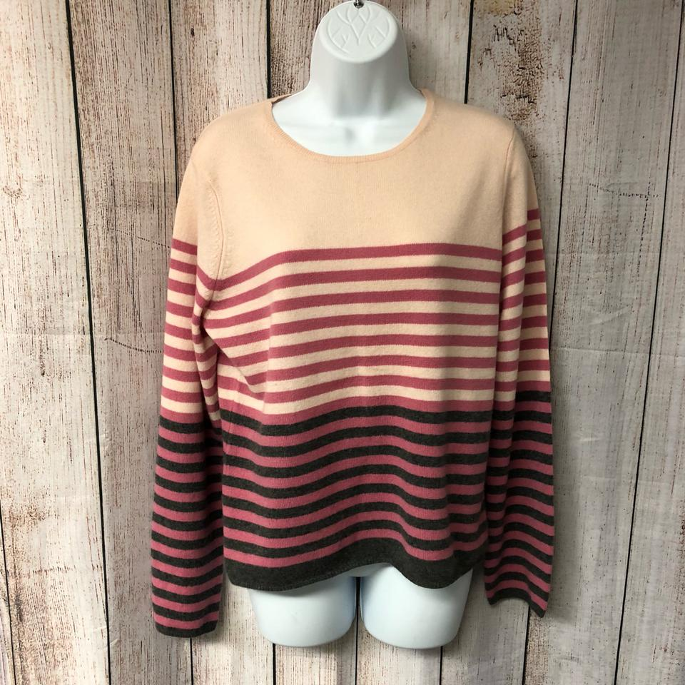 9a3d4c1e3 Charter Club Stripes Cashmere Knit Pink Sweater - Tradesy