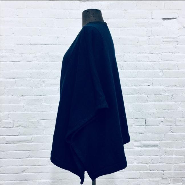 Three Dots Leather Trim Leather Cape Image 4