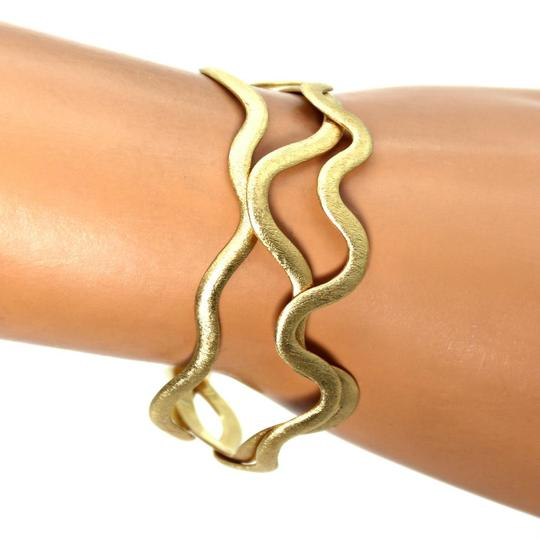Other H.Stern 18k Yellow Gold Set of 3 Wave Design Flex Band Cuff Bracelet Image 1