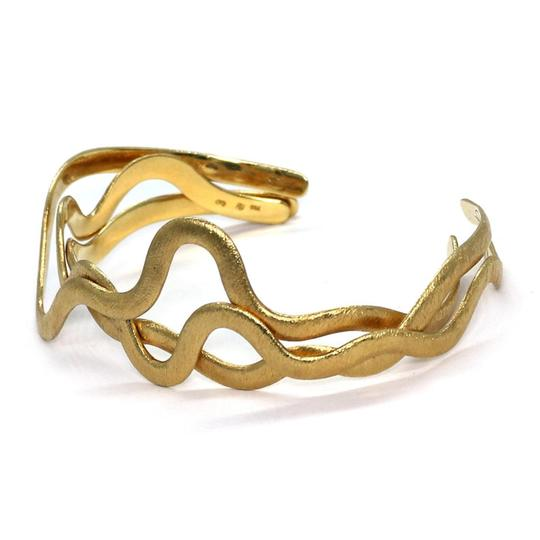 Other H.Stern 18k Yellow Gold Set of 3 Wave Design Flex Band Cuff Bracelet Image 2