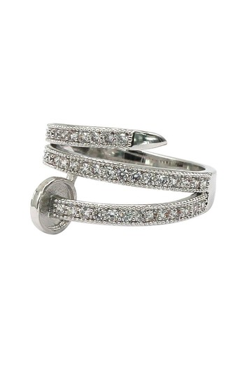 Ocean Fashion Silver Fashion micro pave crystal belt ring Image 1