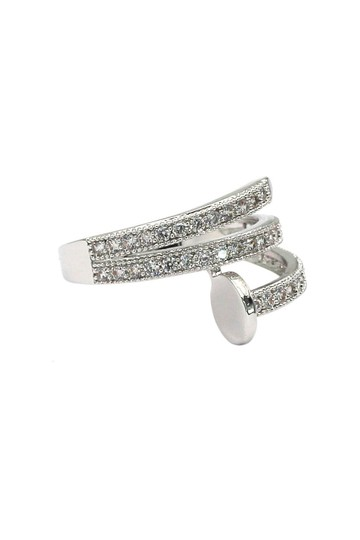 Ocean Fashion Silver Fashion micro pave crystal belt ring Image 2