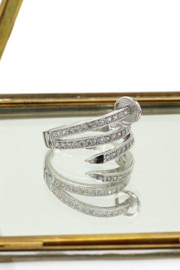 Ocean Fashion Silver Fashion micro pave crystal belt ring Image 3