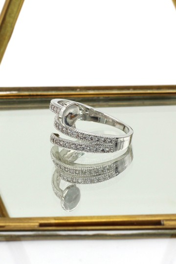 Ocean Fashion Silver Fashion micro pave crystal belt ring Image 4