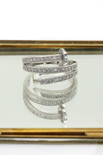 Ocean Fashion Silver Fashion micro pave crystal belt ring Image 5