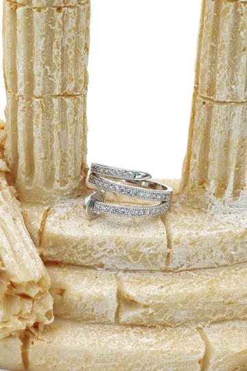 Ocean Fashion Silver Fashion micro pave crystal belt ring Image 6