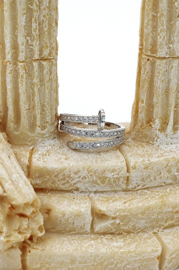 Ocean Fashion Silver Fashion micro pave crystal belt ring Image 8