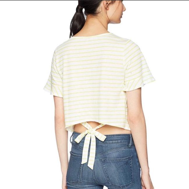 Lucky Brand Striped T Shirt Yellow white Image 2