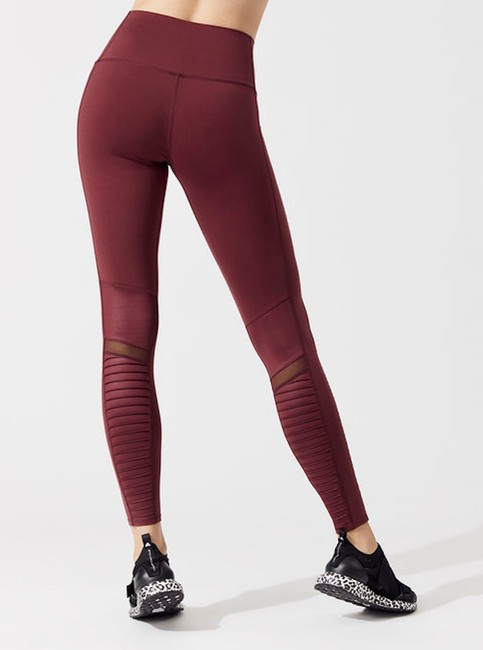 Alo High Waist Moto Leggings in Cherry Glossy Image 1