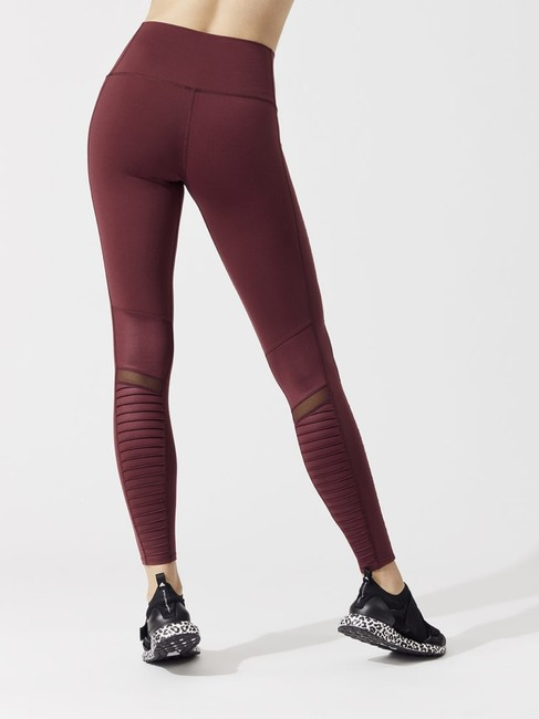 Alo High Waist Moto Leggings in Cherry Glossy Image 5