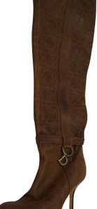 Dior Over The Knee Cannage brown Boots