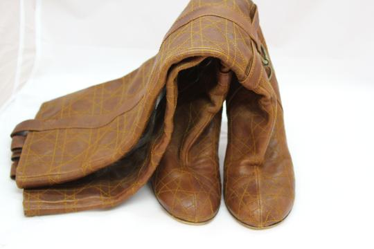 Dior Over The Knee Cannage brown Boots Image 2