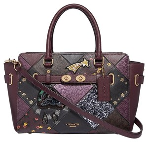 Coach Satchel in RASPBERRY MULTI/LIGHT GOLD
