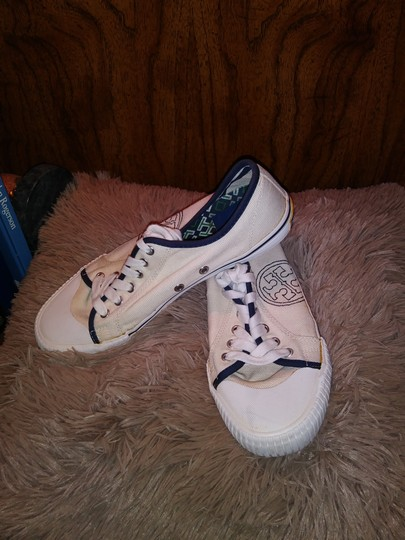 Tory Burch Canvas Sneaker White Athletic Image 2