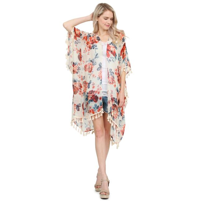 Preload https://img-static.tradesy.com/item/24391880/white-tassel-floral-print-sheer-cardigan-ponchocape-size-os-one-size-0-0-650-650.jpg