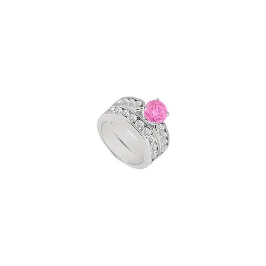 Preload https://img-static.tradesy.com/item/24391954/pink-created-sapphire-cubic-zirconia-engagement-with-wedding-band-ring-0-0-540-540.jpg